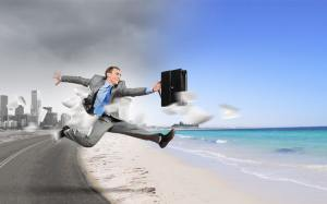 """Sometimes """"Happy Work"""" means going to the beach in your suit..."""